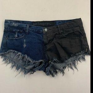 One Teaspoon Women's Blue Casual Jean Shorts 30